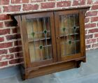Crafts Hanging Wall Cabinet Shelf STAINED GLASS Large