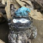 One Amazing Sterling Silver Box With A Turquoise Lizard