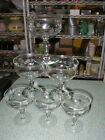 6 Etched Flower Vines CHAMPAGNE SHERBET DESSERT Crystal Glasses W/Stem's 4 1/2