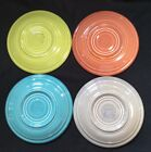 Vintage Fiestaware Saucers Chartuese, Rose, Turquoise, And Gray Lot of 4