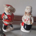 Vintage Napco Christmas Santa Claus Mrs Claus Salt Pepper Shakers for Charity