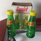 Vintage Squirt Soda Glass Bottle Salt  Pepper Shakers Set With Box for Charity