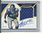 2015 IMMACULATE COLLECTION MICHAEL STRAHAN 2 COLOR PATCH AUTO 05 10