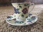 Vintage Floral Teacup Set Blue/Pink/Purple Flowers