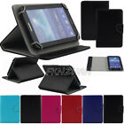"""Universal Case 7 inch 7"""" Tablet Protective Folio Stand Flip Leather Case Cover"""