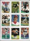 1994 Topps Traded Baseball Complete 132 Card Set In Sheets & Album