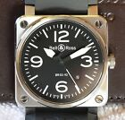 Mint Bell & Ross BR03-92 42mm Rubber Strap Boxes & Papers