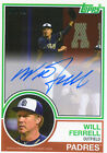 2015 Topps Archives Will Ferrell Autograph Auto Anchorman Padres # 10