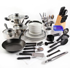 Gibson Home Essential Total Kitchen 83 Piece Combo Set Cooking Cookware NEW