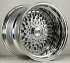 15x9 20 ESM 002 4x100 PLATIUNM WHEELS FITS VW MINI COOPER BMW E30 FENDER FLARES