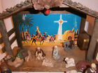 Vintage 15 Piece Musical Lighted Nativity Scene made in Japan