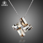 New Four Rectangles Women Jawelry Stellux Austrian Crystal Pendant Necklace