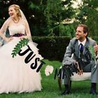 JUST MARRIED Wedding Banner Party Decorations Bunting Garland Photo Party Signs