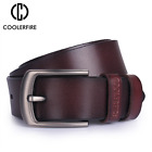 New leather belt with pin buckle designer belts for men cowskin fashion jeans