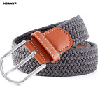New Woven Elastic Stretch Leather Belt canvas Jeans belt for Men And Women