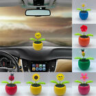 Solar Powered Dancing Flowers in Colorful Pot Decoration Gift Car Ornament