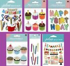 U CHOOSE Jolees BIRTHDAY  PARTY Stickers Cupcakes Cake Candles Presents Gifts