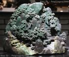 Chinese Dushan Stone Jade Mountain Water Pine Tree Old Man Landscape Sculpture
