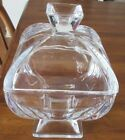 Clear Pedestal Glass Candy Dish  with Lid
