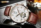 PATEK & KINYUED Mechanical 42 MM Watch Men Automatic Philippe Classic Rose Gold