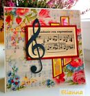 Sizzix Treble  Bass Clef Music Notes Original large die A11293 Retail 1599