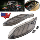 USA Adjustable Smoke Wing Air Deflectors Fairing Side For Harley Classic 96 13