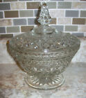 Compote with Lid in Diamond Point-Clear by Indiana Glass  8