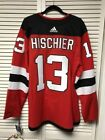 NJ NEW JERSEY DEVILS AUTHENTIC ADIDAS NICO HISCHIER SIZE 54 XL NWT NHL HOCKEY