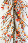 AR44 Fall Primitive Pip and Holly Berry Garland in Orange 54 5ft