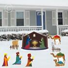 Victorystore Yard Sign Outdoor Lawn Decorations Nativity Scene Christmas New