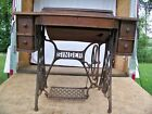 Antique Singer 5 Drawer Sewing Machine Cabinet with Treadle (no sewing machine)