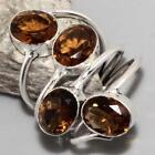 GORGEOUS ! FREE SHIPPING # CITRINE QUARTZ FACETED RING US 7 JEWELLERY