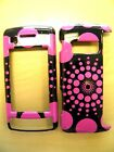 VERIZON LG EnV TOUCH VX 11000 PINK DOTS ON BLACK SNAP ON COVERS CASES NEW