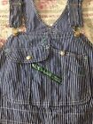 Vintage Key Imperial Striped Engineer Bib Overalls 42 X 30 Made In USA