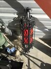 AUTHENTIC VINTAGE WROUGHT IRON HANGING LAMP