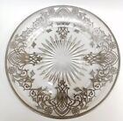 Vintage Crystal Dish with Decorative Sterling Silver Overlay