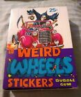 1980 Weird Wheels Stickers WAX BOX - 36 sealed packs - TOPPS - NM