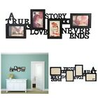 Collage Picture Frame 10x30 Inch Holds 4x4 6 Inch Photos Color Black True Love