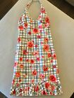 MOSCHINO Halter Top Floral-print Dreas In size 4 - Pristine Condition