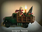 Old Fashioned Metal Truck with Snowman and Electric Candlestick Shelf Sitter!