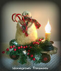 Primitive Snowman on Vintage Metal Roller Skate with Electric Candlestick!