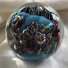 "Signed Josh Simpson 3"" Inhabited Planet Paperweight 1999"