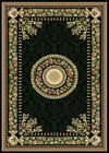 FRENCH BLACK ORIENTAL AREA RUG 4X6 PERSIAN CARPET 023 - ACTUAL 3' 7