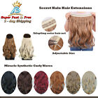 Halo Hair Extension Invisible Wire Secret Miracle Synthetic Curly Wavy Hairpiece