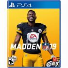 PS4 Madden 19 2019 Football NEW Sealed REGION FREE USA game NFL plays all PS4's