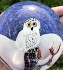 Orient & Flume Limited Edition 53/250 Snowy Owl Art Glass Paperweight