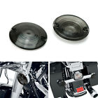 Smoked Lens Turn Signal Light Flat Lens Covers For Harley Davidson Motorcycle