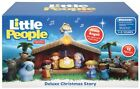 Fisher Price Little People Deluxe Christmas Story Nativity Set 18 pieces Lights