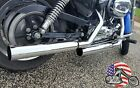 Rush Chrome Straight Cut 3 Exhaust Slip On Mufflers 04 13 Harley Sportster 2