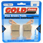 Rear Disc Brake Pads for Husqvarna WRE 125 2006 125cc Dual By GOLDfren